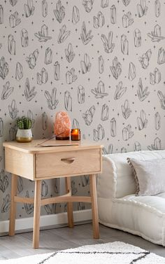 If you're looking for new crystal decor ideas, this wallpaper has an illustrated quartz pattern to give you a different way to decorate with crystals. The 'Reiki' pattern looks straight out of an old Wiccan or botanical book – it's perfect for a Dark Academia inspired bedroom or natural Boho living room. Meditation Corner, Meditation Rooms, Zen Meditation, Daybed In Living Room, Boho Living Room, World Map Wallpaper, Home Wallpaper, Wallpaper Ideas, Witchy Wallpaper