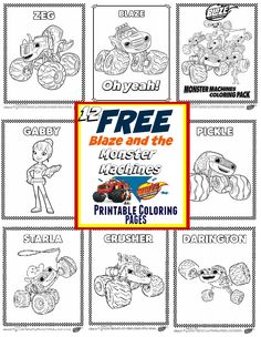 Blaze and The Monster Machines Party Ideas + FREE Printable Coloring ...