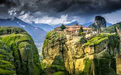 Meteora Greece - The magical scenery of Meteora located in Kalambaka, Greece