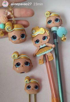 Polymer Clay Princess, Jumping Clay, Doll Party, Ideas Para Fiestas, Lol Dolls, Pasta Flexible, Cold Porcelain, Clay Creations, Hair Bows