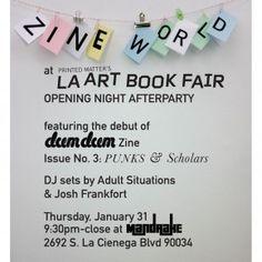 LA Art Book Fair Zine World