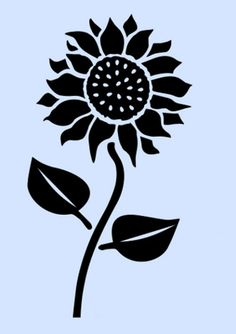 Sunflower stencil sunflowers stencils flower leaf craft template new x Sunflower Stencil, Sunflower Leaves, Sunflower Flower, Sunflower Template, Sunflower Design, Paisley Stencil, Leaf Stencil, Stencil Art, Flower Stencils