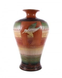Navajo Hummingbird Hand Crafted Native American Pottery By Artist Betty S. www.nativeamericanjewelry.com