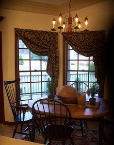 Prims...love the curtains & the chandelier...www.picturetrail.com/theprimitivestitcher.