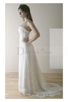 UK Lace Strapless Design Wedding