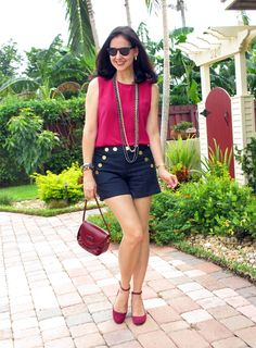 A Key to the Armoire Over 50 Womens Fashion, Black Girl Fashion, Fashion Over 50, Love Fashion, Blazer And Shorts, Pink Shorts, Jean Shorts, Classy Outfits, Casual Outfits