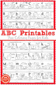 Kids will love making their own alphabet booklet with these adorable free kids printables. Take these on a trip or use them before school starts!