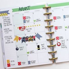 It's #BACKTOSCHOOL ✏️ week on the mambi blog, and today's Happy Planner™ spread by mambi Design Team member @momruncraft demonstrates how you could use a blank monthly spread from @the_happy_planner Six Month Extension Pack strictly for back to school activities for yourself and your kids.  #TheHappyPlanner