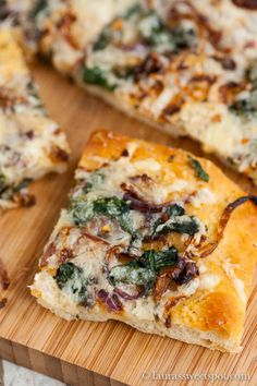 Focaccia with Caramelized Onions and Spinach