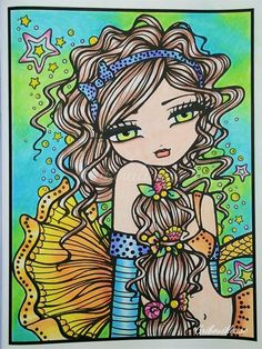 Mermaids, Fairies & other girls of whimsy - Hannah Lynn #coloriage…
