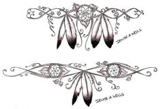 Girly Dreamcatcher Tattoos by Denise A. Wells by ♥Denise A. Wells♥, via Flickr