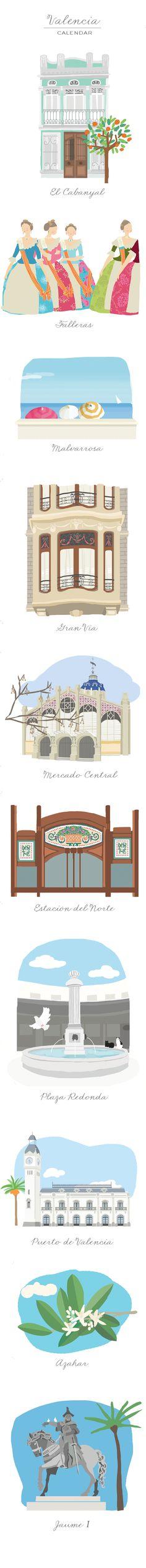 Imagenes que he creado para un calendario sobre Valencia que acaba de…