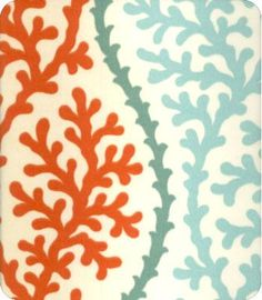 in love with this outdoor fabric... need to make new cushions overwinter for  this summer.....  ODL Coral Splendor