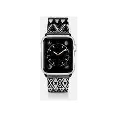 Apple Watch Band - Black Hand Drawn Tribal Aztec Pattern- Transparent ($70) ❤ liked on Polyvore featuring jewelry, watches, apple watch band, aztec jewelry, transparent watches, aztec watches, tribal jewelry and see through watches