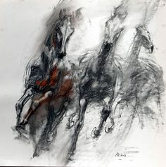 Abstract Horse Painting, Watercolor Horse, Horse Drawings, Animal Drawings, Horse Illustration, Horse Artwork, Equine Art, Art Plastique, Animal Paintings
