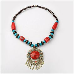 Synthetic Turquoise Necklaces(NJEW-H049)