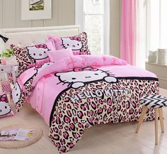 Hello Kitty Bedding Set, T17 Pink Kiss Cartoon Queen Bedding Set 4 Pcs SweetDream' D http://www.amazon.com/dp/B00JALZ6ZY/ref=cm_sw_r_pi_dp_Dw2Ltb097DGVQN4D