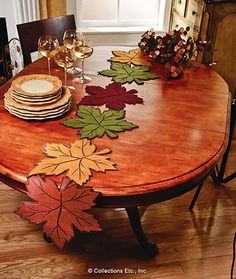 Leaf Table Runner