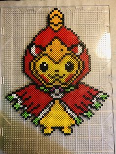 Custom made by yours truly:) Hama Beads Pokemon, Pearler Beads, Easy Perler Bead Patterns, Cross Stitch Patterns, Les Gremlins, Pokemon Cross Stitch, Pixel Beads, Anime Pixel Art, Cute Pokemon Wallpaper