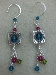 bead frame earrings                                                                                                                                                      More
