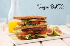 Make this vegan bacon, lettuce, tomato and avocado sandwich! Easy, healthy and nutritious for adults and kids!