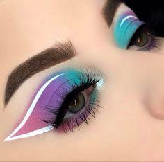 Baddie Makeup, Edgy Makeup, Makeup Eye Looks, Eye Makeup Art, Crazy Makeup, Skin Makeup, Eyeshadow Makeup, Disney Eye Makeup, Pretty Makeup