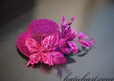 Fuschia Mini Top Hat by RubyPearls on Etsy, $20.00