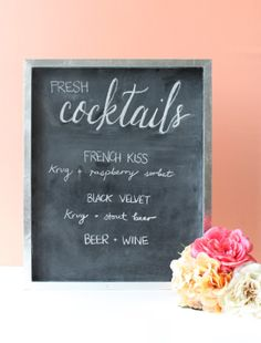 Win a chic chair sign for your wedding from Host and Toast! - Wedding Party