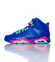 4818a08613d7 JORDAN High top girl s sneaker Lace up closure Padded tongue with JORDAN  logo Cushioned air bubble