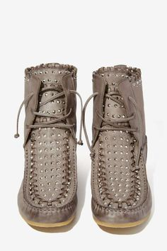 Sam Edelman Katelyn Leather Moccasin Bootie - Shoes | Lace-Up | Flats