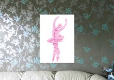 Ballerina Personalised A4 Word Art Print. FREE UK P&P. Birthday, Special Occasion. Ballet, Dancing, - pinned by pin4etsy.com