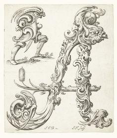 Jan Christian Bierpfaff, Alphabet of organic type from Libellus Novus Elementorum Latinorum, mid 17th century