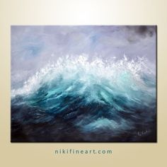 ocean painting on canvas Ocean Paintings On Canvas, Abstract Ocean Painting, Seascape Paintings, Abstract Canvas, Oil On Canvas, Original Paintings, Original Art, Tapestry, Contemporary