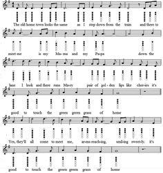 The green green grass of home sheet music notes