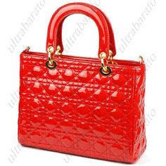 Upscale Taste Occident style Thread Pearlite Layer PU Leather Zipper Satchel Bag with Shoulder Bag - Red ($33.29)