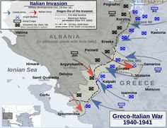 Greco-Italian war operation map - pin by Paolo Marzioli