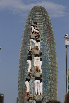 Castellers 11-9-2014 Barcelona, Catalonia