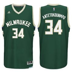 2bf793035 Giannis Antetokounmpo  34 2015-2016 New Season Milwaukee Bucks Green Swingman  Jersey Jabari Parker