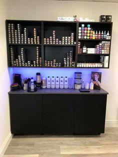 Diy color bar home hair salons, natural hair salons, hair salon interior, home Home Beauty Salon, Home Hair Salons, Hair Salon Interior, Beauty Salon Decor, Salon Interior Design, Home Salon, Beauty Salon Design, Small Beauty Salon Ideas, Small Salon Designs