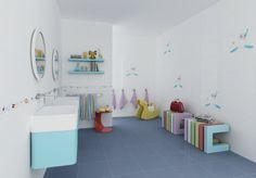 Decorados/Blancos - kolekcja płytek ceramicznych; podstawowe formaty są w kolorze białym; na dekoracjach do łazienek dla dzieci m.in. sympatyczne foki; dostępne także inne dekory, w tym do kuchni. Cena: ok. 90 zł/m² (płytki ścienne 33x60 cm), ok. 120 zł (dekoracja 33x60 cm), Undefasa/Euroceramika.