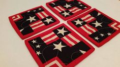 Check out this item in my Etsy shop https://www.etsy.com/listing/231664237/modern-patriotic-coasters-set-of-4