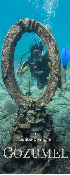 Scuba diving in Cozumel http://hereandtherewithoutacare.com/cozumel-diving/ #scubadivinglocations #scubadivingvacations