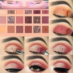 Makeup Tips Eyeshadow, Soft Eye Makeup, Makeup Eye Looks, Eye Makeup Steps, Simple Eye Makeup, Smokey Eye Makeup, Eyebrow Makeup, Beauty Makeup, Maquillage Urban Decay