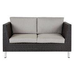 This John Lewis Madrid Outdoor Sofa is definitely going on the balcony. John Lewis Sofas, Garden Furniture, Outdoor Furniture, Outdoor Sofa, Outdoor Decor, Seat Pads, Steel Frame, A Table, Balcony