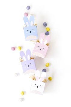 Delight your kids and friends with these DIY printable Easter Bunny Treat Boxes! | Make And Tell