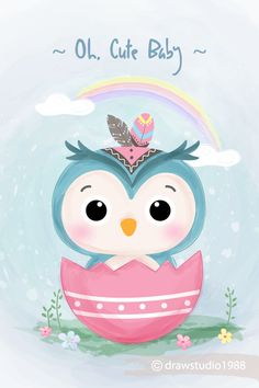 Discover the best Vectors, Photos & PSD files from - Free Graphic Resources for personal and commercial use Cute Disney Drawings, Cute Animal Drawings, Owl Illustration, Watercolor Illustration, Cute Doodle Art, Cute Art, Cute Owls Wallpaper, Owl Clip Art, Hello Kitty Art