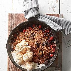 Cast-Iron Mixed Berry Crisp From Better Homes and Gardens, ideas and improvement projects for your home and garden plus recipes and entertaining ideas.