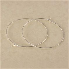 Hoop Earrings  1-1/2 40mm Silver Hoop by AdoraBellaJewelry on Etsy