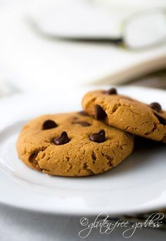 Gluten-free pumpkin chocolate chip cookies with a secret ingredient.