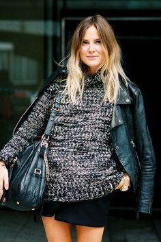 Sweater + Leather